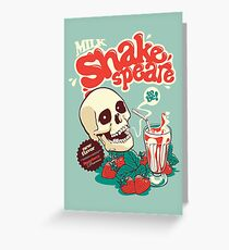 Milk Shakespeare Greeting Card