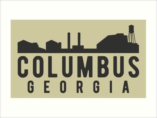 Columbus Georgia City Skyline by JakeRhodes