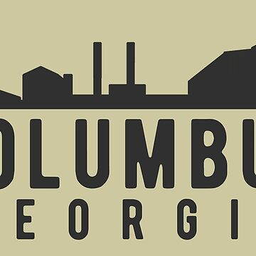 Columbus Georgia City Skyline by JakeRhodes