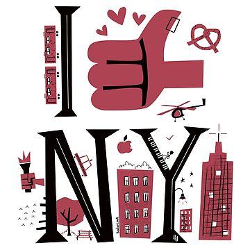 I love & thumbs up NY by marcelobadari