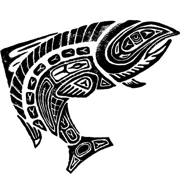 Tribal Salmon  by connorlucasart