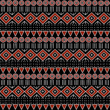 Mudcloth Style 2 in Black and Red by MelFischer
