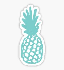 Aqua Pineapple Sticker