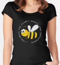 Beekeeper Apiarist Funny Design - I Pollinate The Planet. Whats Your Superpower  Women's Fitted Scoop T-Shirt