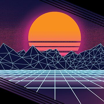 Outrun Sunset by connorlucasart