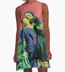 Bonnie and Clyde Pop Art A-Line Dress