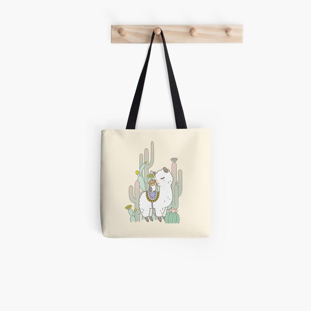 Alpaca Kiss Tote Bag