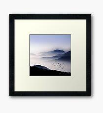 Flying Over The Fog Framed Print