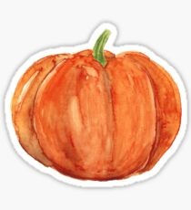 Watercolor pumpkin Sticker