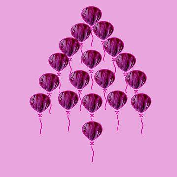 Purple Balloon Tree by Zmagine
