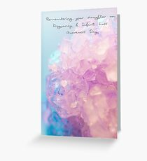 Remembering your daughter on Pregnancy and Infant Loss Awareness Day Greeting Card