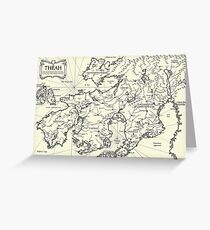 Map of Theah Greeting Card