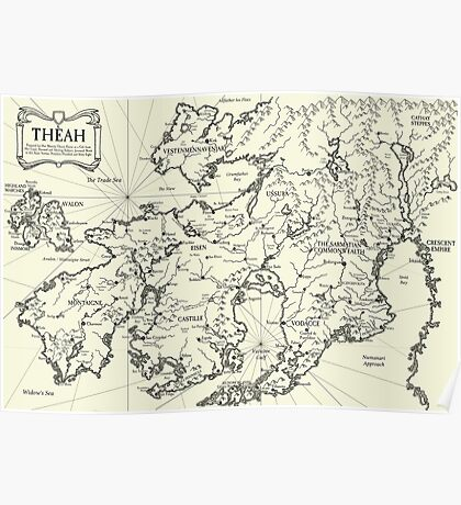 Map of Theah Poster