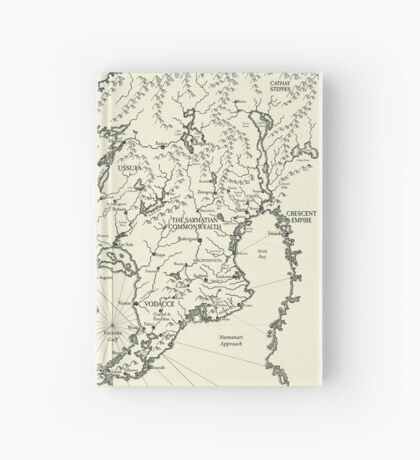 Map of Theah Hardcover Journal