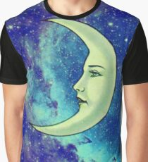 Luna Tarot - Blue Glitter Galaxy - Loteria Graphic T-Shirt