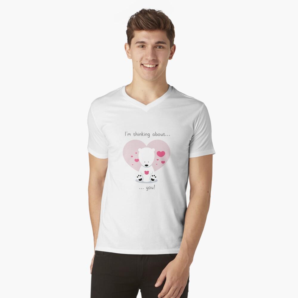 I'm thinking about you! V-Neck T-Shirt