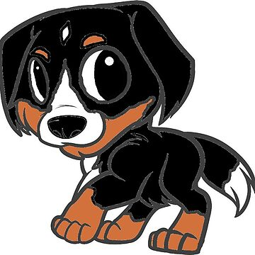 greater swiss mountain dog cartoon by marasdaughter