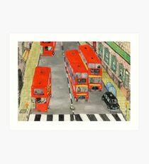 On the  buses 2  Art Print