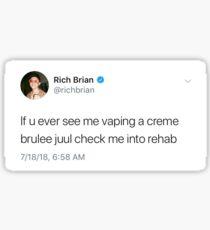 Creme Brulee Juul Rich Brian Sticker