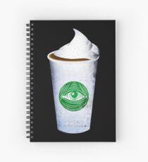 Illuminati Latte Spiral Notebook