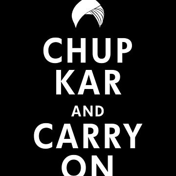 Punjabi Chup Kar and Carry On Tee, Funny Indian Punjab Tee, Desi Tee, Vaisakhi Diwali Gift, Keep Calm Carry On, Short-Sleeve Unisex T-Shirt by prezziefactory