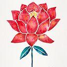 Heiliger Lotus - Rote Blüte von Cat Coquillette