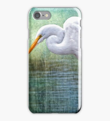 Great White Egret at Work iPhone Case/Skin