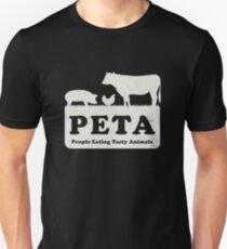 PETA - People Eating Tasty Animals (white) [Roufxis -RB] Unisex T-Shirt