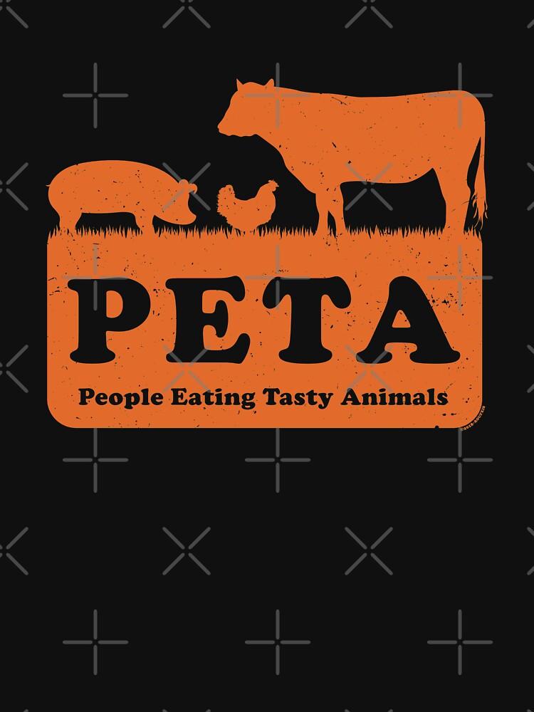 PETA - People Eating Tasty Animals (orange) [Roufxis -RB] by RoufXis