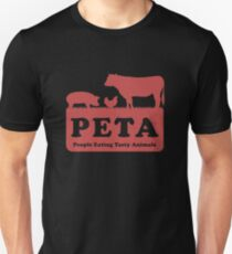 PETA - People Eating Tasty Animals (red) [Roufxis -RB] Unisex T-Shirt
