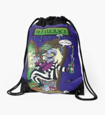 Beetlejuice Beetle Juice Funny Halloween Ghost Drawstring Bag