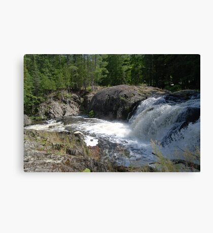 Falls in the UP of Michigan Canvas Print