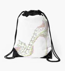 Wedding Slipper Drawstring Bag