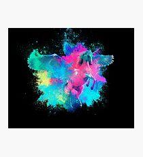Unicorn fantasy colorful Photographic Print