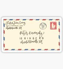 Peter K Letter Sticker