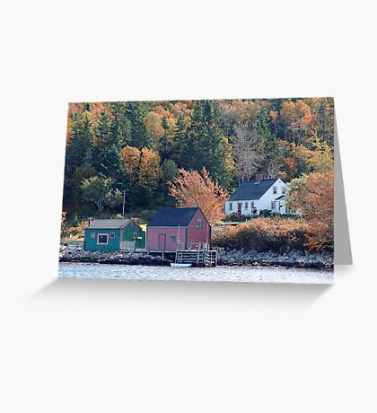 Fisherman's Home, North-West Cove Greeting Card