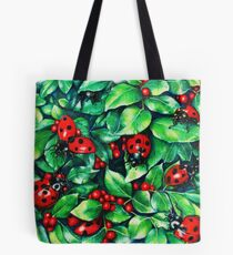 Ladybugs in the Hedge Tote Bag