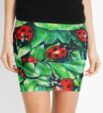 Ladybugs in the Hedge Mini Skirt