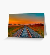 Golden Glow The Long Way Home Greeting Card