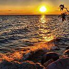sunset splash by Cheryl Dunning