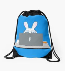 IT Bunneh with BunBook Pro from Carrot Inc. Drawstring Bag