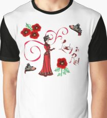 Lady in Red motif Graphic T-Shirt