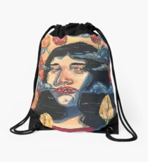 Tulips and Turmoil Drawstring Bag