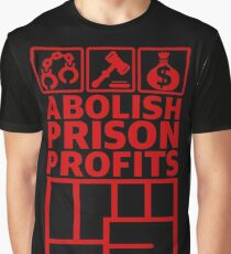 Abolish Prison Profits [Red] Graphic T-Shirt