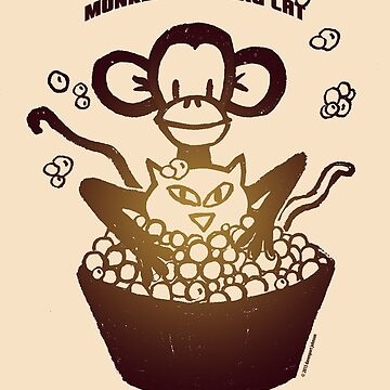 "Davenport Johnson ""Monkey Washing Cat"" T-shirt by Dave-id"