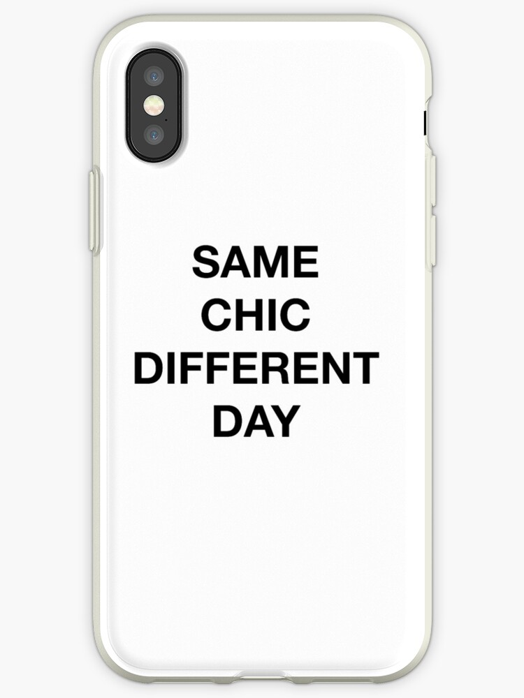 newest 171fc 6784e 'Same Chic Different Day - Hipster/Trendy Typography' iPhone Case by Vrai  Chic