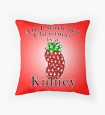 All I want for Christmas is a Kidney Throw Pillow