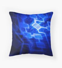 Abstract software algorithm flowchart art photo print Throw Pillow