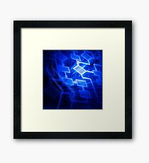Abstract software algorithm flowchart art photo print Framed Print