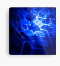 Abstract software algorithm flowchart art photo print Metal Print